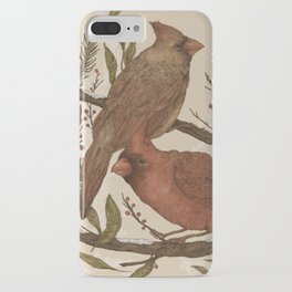 Wintery Cardinals iPhone Case