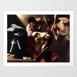 Caravaggio The Crowning with Thorns Art Print