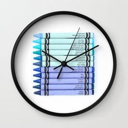 Color me BLUE Wall Clock