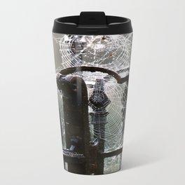 """Tangled Webs"" jjhelene design Metal Travel Mug"