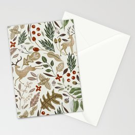 Christmas in the wild nature Stationery Cards