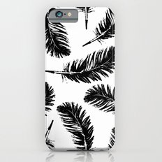 Black feathers iPhone 6s Slim Case