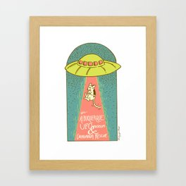 The Albuquerque UFO Museum and Chihuahua Rescue Framed Art Print