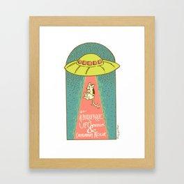 The Albuquerque UFO Museum and Chihuahua Rescue Framed Art Print