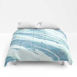 Unsettled Waves Comforters