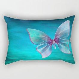 Butterfly Blues Rectangular Pillow