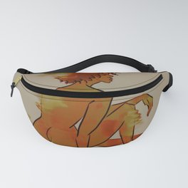 red flames Fanny Pack