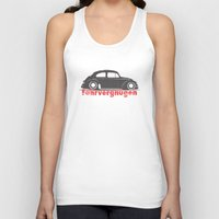 vw Tank Tops featuring VW Bug by JudeR73
