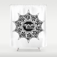 brasil Shower Curtains featuring Maia Brasil by Splund
