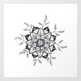 Mandala in Nature Art Print