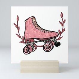 Roller skating Mini Art Print