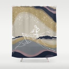 Gunnar- turned to have matching sets  Shower Curtain