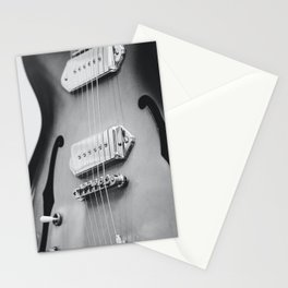electric guitar music aesthetic hollow close up elegant mood art photography  Stationery Cards