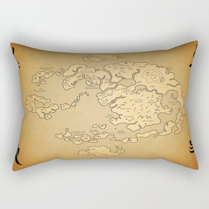 Avatar Last Airbender Map Rectangular Pillow by kewlzidane | Society6