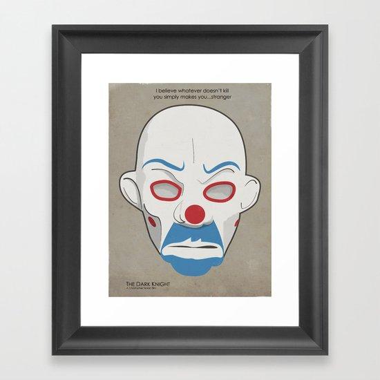 Dark Knight Movie Poster. Framed Art Print