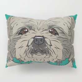 Icons of the Dog Park: Shih Tzu Design in Bold Colors for Pet Lovers Art Print Pillow Sham