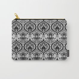 Simple Ogee Black & White Carry-All Pouch