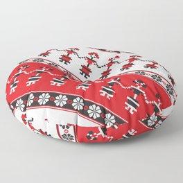 Romanian pixelwork Floor Pillow