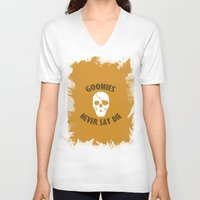 the goonies V-neck T-shirts featuring Goonies Never Say Die by Christina
