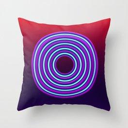 Neon circles Throw Pillow