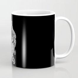 The Ivory Unicorn - Zentangle monochrome Coffee Mug