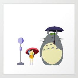Rain scene from HayaoMiya.. Art Print