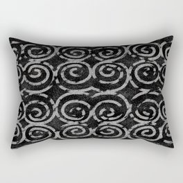Frosty Black and White Pattern Rectangular Pillow