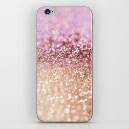 Mermaid Rose Gold Blush Glitter iPhone Skin
