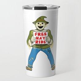 Funny Halloween Scarecrow Travel Mug
