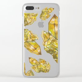 Citrine November Birthstone Watercolor Clear iPhone Case