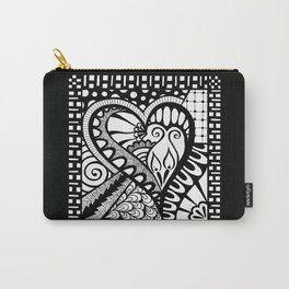 Abstract heart doodle Carry-All Pouch
