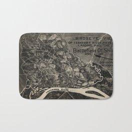 Vintage Map of The Shiloh Battlefield (1917) Bath Mat