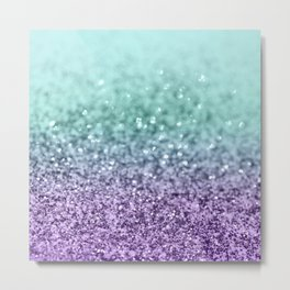 Mermaid Girls Glitter #9 #shiny #decor #art #society6 Metal Print