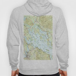 Lake Winnipesaukee Map (1986) Hoody