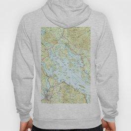Lake Winnipesaukee Map (1986) Hoody
