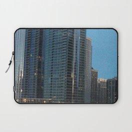 Chicago Skyline, Skyscrapers, Sunset Laptop Sleeve