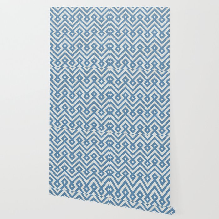 Geometric Seamless Blue Islamic Pattern Wallpaper