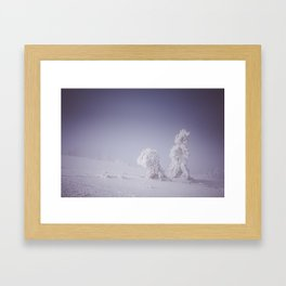 Snowy creatures - Landscape and Nature Photography Framed Art Print