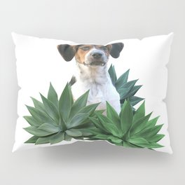 Agave Leaves Jack Russell Terrier Dog Pillow Sham