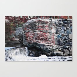 Mission Dam in the Fall Canvas Print