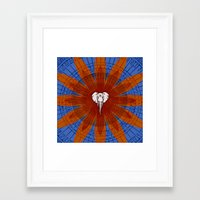 om Framed Art Prints featuring Om by emscrazy8
