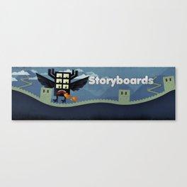Storyboard Monster Canvas Print
