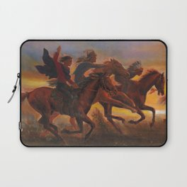 American Natives Riding On Horses Laptop Sleeve