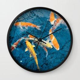Koi Pond in Japan Wall Clock