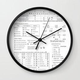 International Phonetic Alphabet IPA Wall Clock