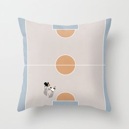 Shooting Hoops From Above  Throw Pillow