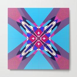 blue&pink Metal Print