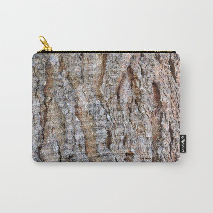 TEXTURES -- Big Cone Pine Bark Carry-All Pouch