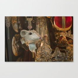 Mice And Masks Canvas Print