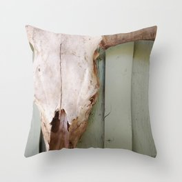 Steer1 Throw Pillow